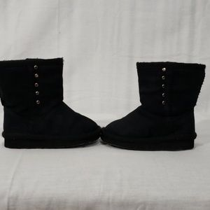 Other - black faux suede boots for baby